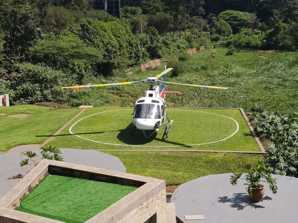 The helipad