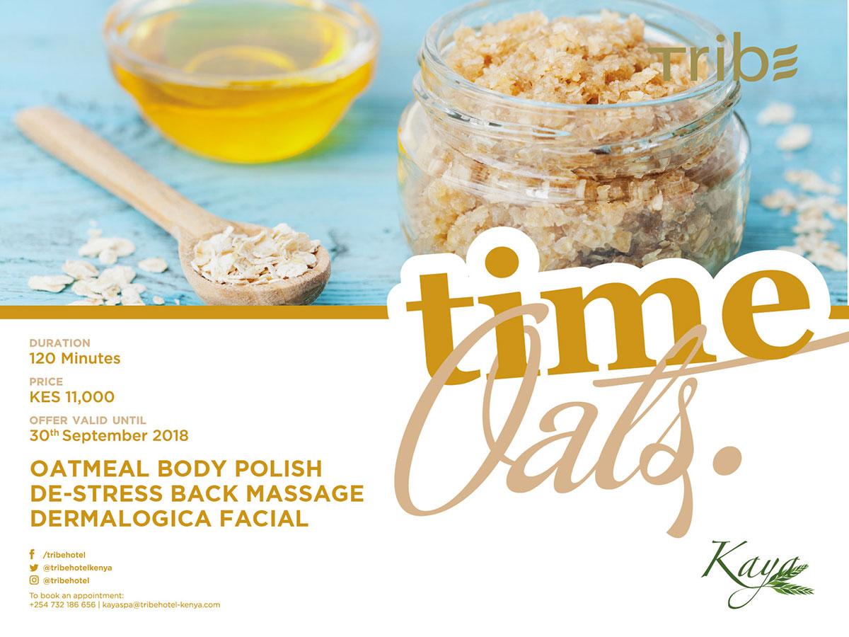 oats time offer Tribe hotel Nairobi
